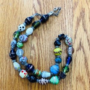 Artisan Colorful Beaded Necklace from Lebanon